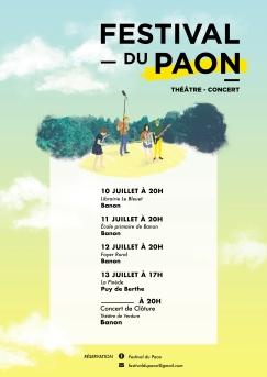 Affiche Festival du Paon 2017 RVB web
