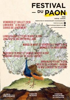 Affiche Festival du Paon 2018